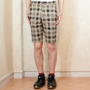 Men's checked pattern half underwear