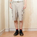 It is with men's military short pants belt