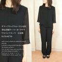 Summer black formal for summer layering wind over York blouse pants suit Japan-9170 + 8770