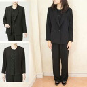 All seasons 2128 made in three points of tailor set trouser suit black formal Japan
