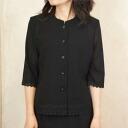 Summer black formal summer hem blouse Japan-8160 separately