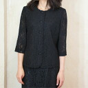 Product made in summer black formal total race blouse summer clothing Japan 8620