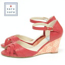 Sale SARA SARA wedge sole strap Lady's pumps red 23.5cm