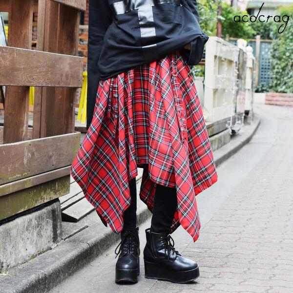 2wayタータンスカート