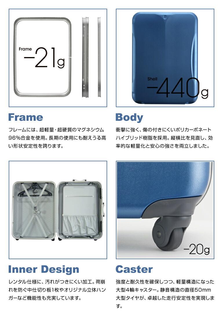 超軽量のマグネシウムフレーム/ポリカーボネートハイブリッド樹脂/レンタル仕様の内装/4輪キャスター