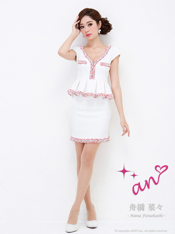 anドレス【AOC-2146】ANミニドレス キャバドレス キャバ ドレス【送料無料】