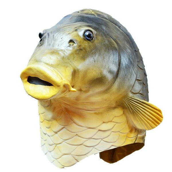Acomes rakuten global market fish face full head mask for Fish head mask