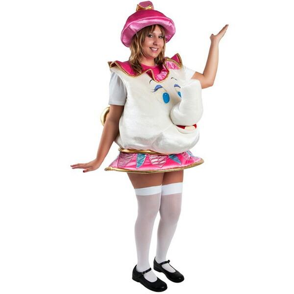 ポット婦人美女と野獣コスチューム衣装子供用ディズニーキャラクターミセスポットコスプレ仮装ハロウィン