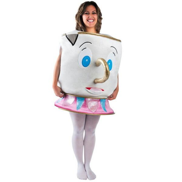 チップ美女と野獣コスチューム衣装大人用ティーカップディズニーキャラクターコスプレ仮装ハロウィン