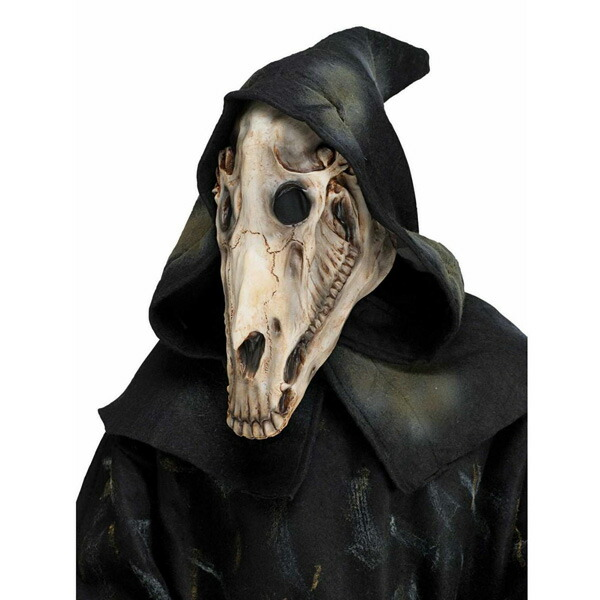 马骷髅面具 cosplay 服装万圣节马头骨服装