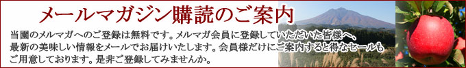 メールマガジン登録・当店のお得情報をゲット!