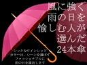 On rainy days staff ♪ wind strong 24 book umbrella red wine ◆