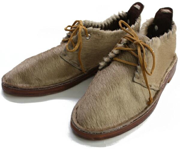 モロッコ・毛皮の靴【1】(約22cm)