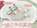7.5-8.0mm Ako and basic white system color of the real pearl earrings pierced earrings ☆ eternity★