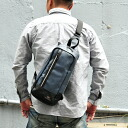Mens Big 2way shoulder bag body bags, mens back TRICKSTER trickster Brave Collection Aaron (Aaron) 2way bodybag