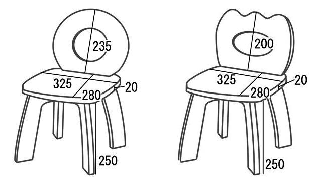 供使用了天然木的可爱小孩使用的的椅子