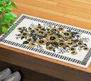 Sunflower pattern entrance mat rectangle 10P02jun13