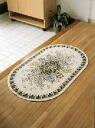 Wilton woven door mat large bouquet oval 10P02jun13