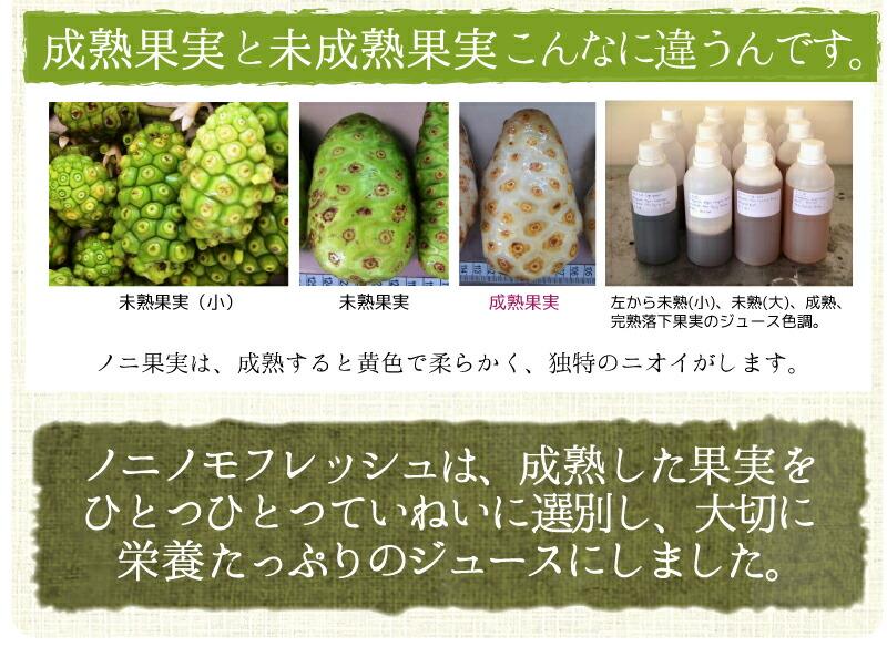 成熟果実と未成熟果実の違い