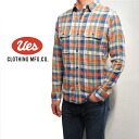 UES( waste) 追撚 check shirt /CHECK_SHIRTS/2-colors/Lot.501404 ■ Made in JAPAN■
