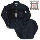 《 samurai club /SAMURAI JEANS/ samurai jeans 》 samurai airplane club sponge gourd shirt long sleeves Lot.SFPS14-INDIGO