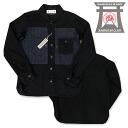 《 samurai club /SAMURAI JEANS/ samurai jeans 》 samurai airplane club sponge gourd shirt long sleeves Lot.SFPS14-BLACK
