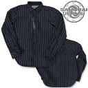 《 /SAMURAI JEANS/ samurai jeans 》 撚杢 クナイウォバッシュウォッチポケットシャツ /Lot.SWP14-L-INDIGO