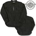 《 /SAMURAI JEANS/ samurai jeans 》 撚杢 クナイウォバッシュウォッチポケットシャツ /Lot.SWP14-L-BLACK