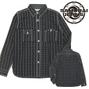 "Shuriken-Wabash work shirt /Lot.SGNS14-L-BLACK s JEANS SAMURAI / Samurai jeans."""