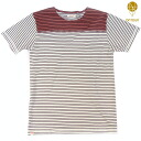 "ONTOUR( on tour) ""Harvest"" S/STEE /Stripe Burgundy (stripe bar Gandhi) COLOR:RED"