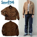 SC12901 9 oz... moleskin jacket MOLESKIN JAKCKET 139) DARK BROWN SUGAER CANE