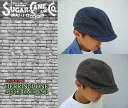 ヘリンボンアップルジャックキャップ-casket and HERRINGBONE APPLEJACK CAP-SC01945 SUGAER CANE for sugarcane