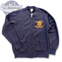 """U.S.ARMY"" FULL ZIP CREW SWEAT full zip crew sweat shirt BR65601-125)NAVY BUZZ RICKSON'S( バズリクソンズ) Made in JAPAN"
