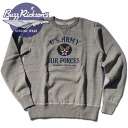 "SET-IN CREW SWEAT ""U.S.ARMY AIR FORCE BR 66028 BUZZ RICKSON's (Rickson) Made in JAPAN"