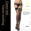 2-piece set whats clear is a simple network NET garter belts and garters NET garter belt / garter / lingerie / comfort / daily / simple / skirt type / tights / networks / Ami / Russell tights and knee high and black [n]