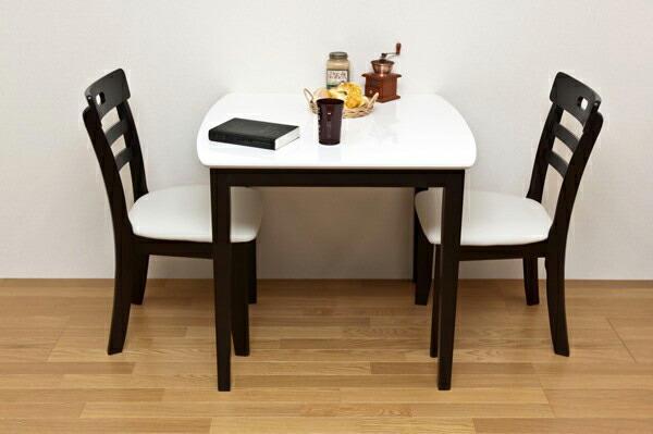 【全商品ポイント10倍!!】ダイニングセット2人用3点セット ダイニングテーブル 椅子 テーブル幅80cm チェア完成品2脚 食卓セット ♪