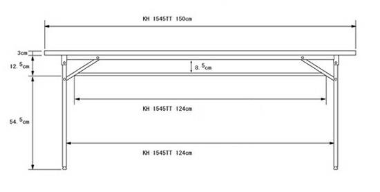 会議室用テーブル 幅150cm 棚付 ミーティングテーブル 公民館用 長机 高さ70cm - エイムキューブ画像3
