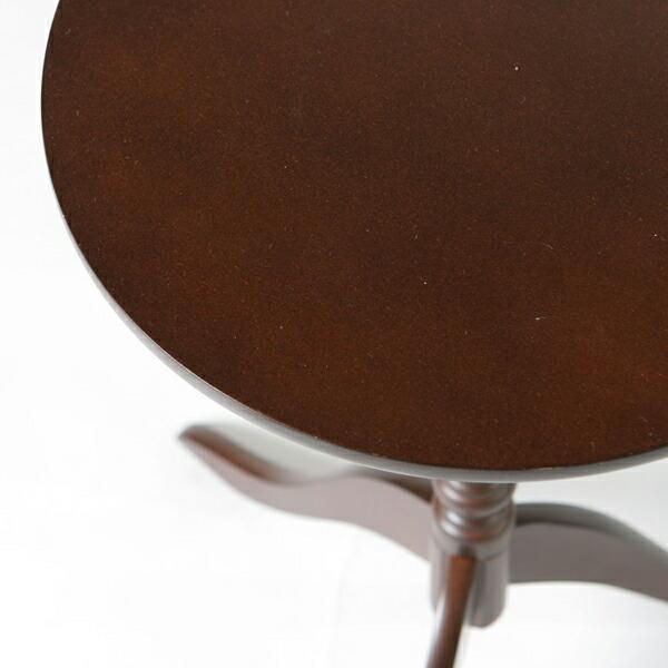 プランターテーブル 花台 天然木支柱 天板幅30cm アンティーク風 丸テーブル - aimcube画像2