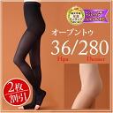 Open toe stockings (lower extremity varicose veins support stockings) 280 d-set of two-legged leg swelling / リラクサン
