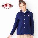 DANTON Danton cotton canvas round collar work jacket #JD-8447SCV | Lady's | Folded neckpiece of haori | Round collar | Cotton | Cotton canvas | Jacket | Light overcoat | 2013SS fs3gm