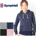 Gym flextime interlock zip up parka dot print #J-0988DP Lady's size | Gymphlex | Trainer |
