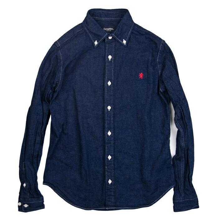 flex中的靛蓝牛仔布衬衫长袖]吉姆[#j