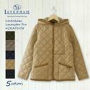 [2014 in autumn and winter in stock! > LAVENHAM lavenham fur Quilted Jacket #CRAYDON FUR 281470 LCRAY [LAVENHAM coats Quilted Jacket Women's polyester lavenham Claydon Raven star 2014 AW]