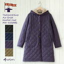 The arrival in winter latest the <autumn of 2013!> The smock shop quilting ● long coat #SS-8250 (PL / BFS) air kilt jacket smock shop smock shop quilting jacket floral design flower print autumn of 2013 winter