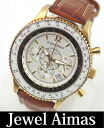 Piel gone flight timer chronograph white quartz mens watch