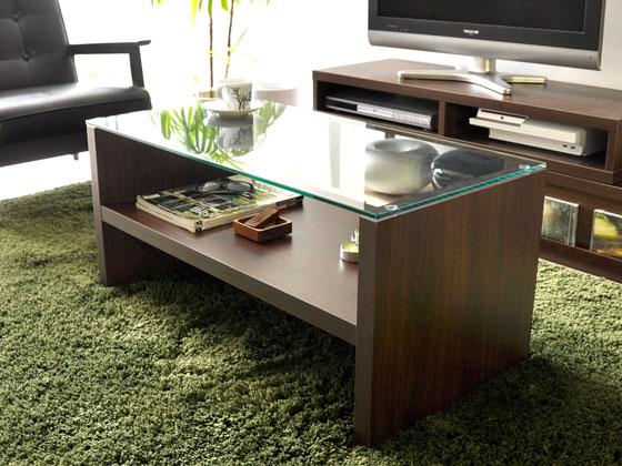 ガラス製センターテーブル