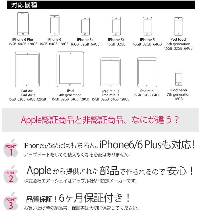 ���åץ�MFiǧ�ڼ��� �����2.1A iPad�б� iPhone5/5s/5c iPhone6 iPhone6 Plus���Ŵ��MAJ2-1��