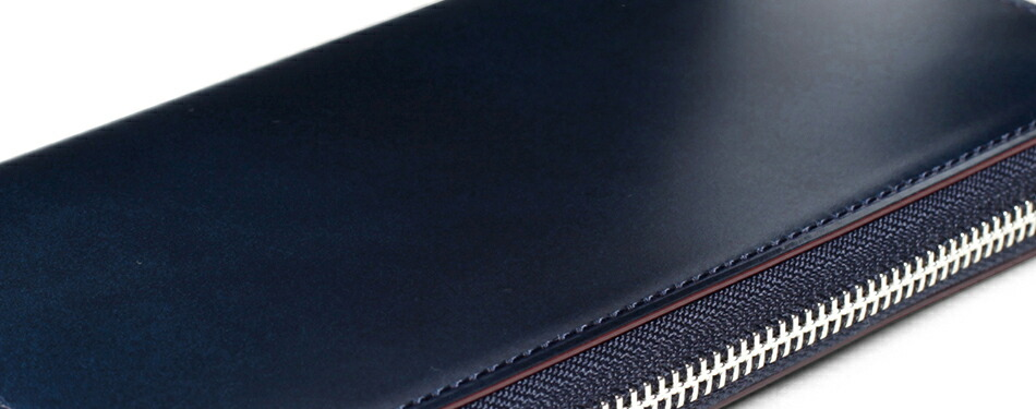 GANZO ガンゾ CORDOVAN コードバン メンズ 財布 ラウンドファスナー長財布 日本製 本革 ブラック ダークグリーン ダークブラウン ネイビー