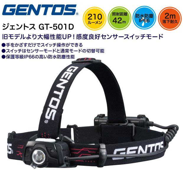 GENTOS GT-501D ジェントス LEDヘッドライト オートディマー