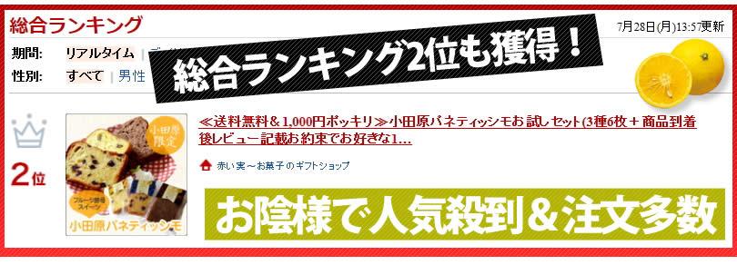 楽天総合ランキング2位獲得の小田原パネティッシモお試しセット